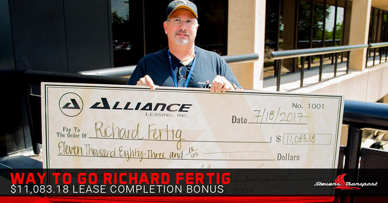 Driver receives lease completion check.
