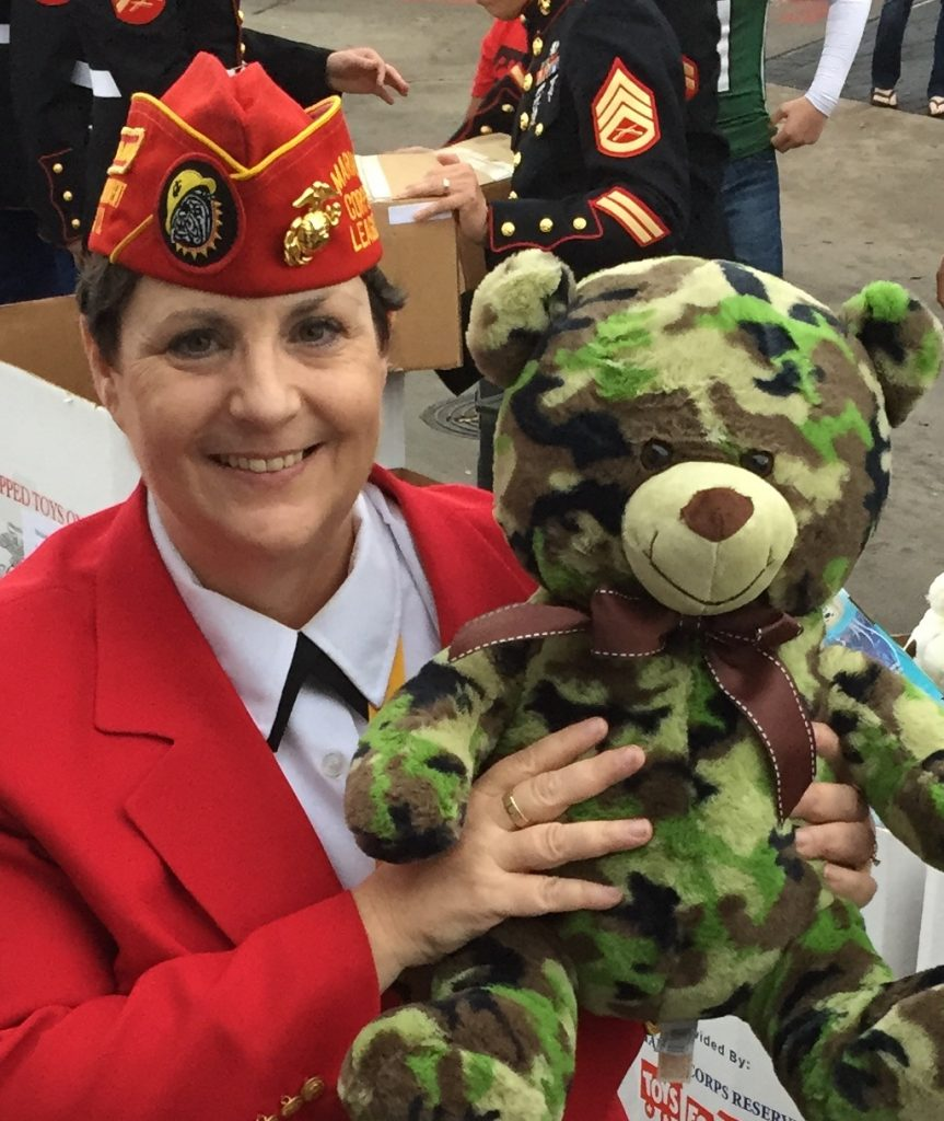 image of Melody Bronson & Toys For Tots