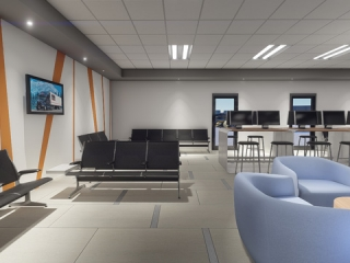 Image of Rendering of Driver Lounge Interior View of Seating Area