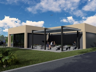 Image of Artist Rendering of Driver Lounge Exterior View
