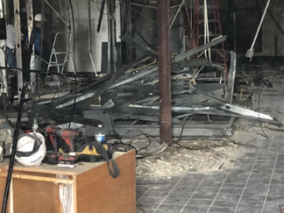 Image of Driver Lounge Demolition In Progress