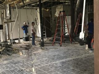 Image of demolition progress of Stevens Driver Lounge Renovations