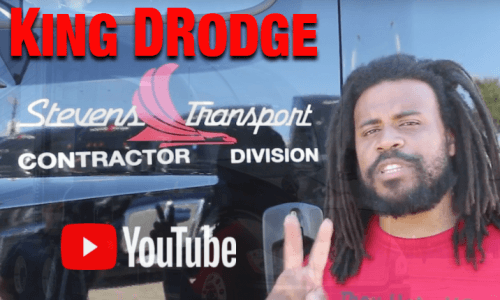 image of YouTube's King DRodge Stevens Transport Driver