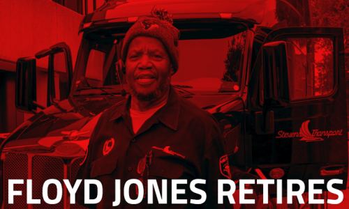 Image of retiring driver Floyd Jones, Sr.