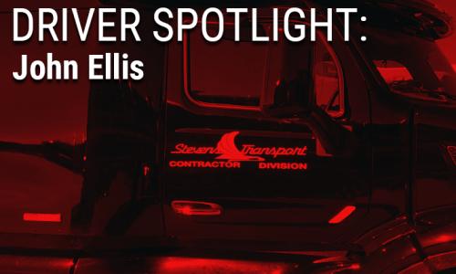 image of Stevens driver John Ellis' truck
