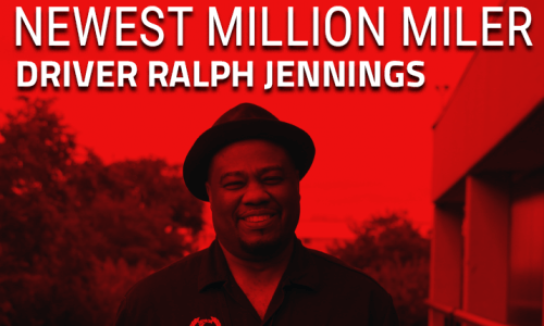 Photo of Ralph Jennings, Stevens Million Mile truck driver