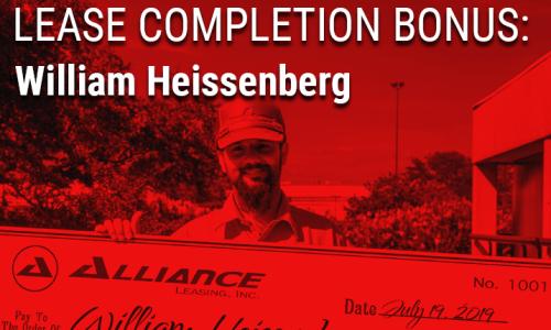 image of William Heissenberg, Stevens Contractor Division driver