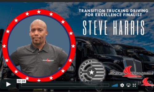 image of Stevens Transport driver Steve Harris, finalist for Transition Trucking Award