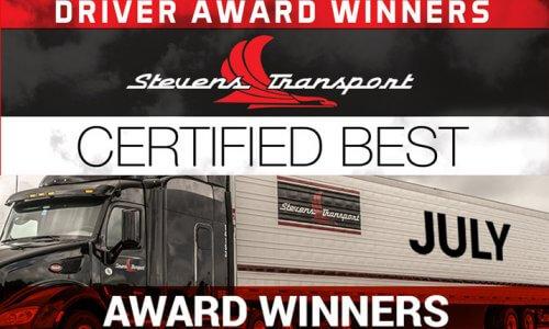 image of Stevens Transport July 2020 Driver Awards