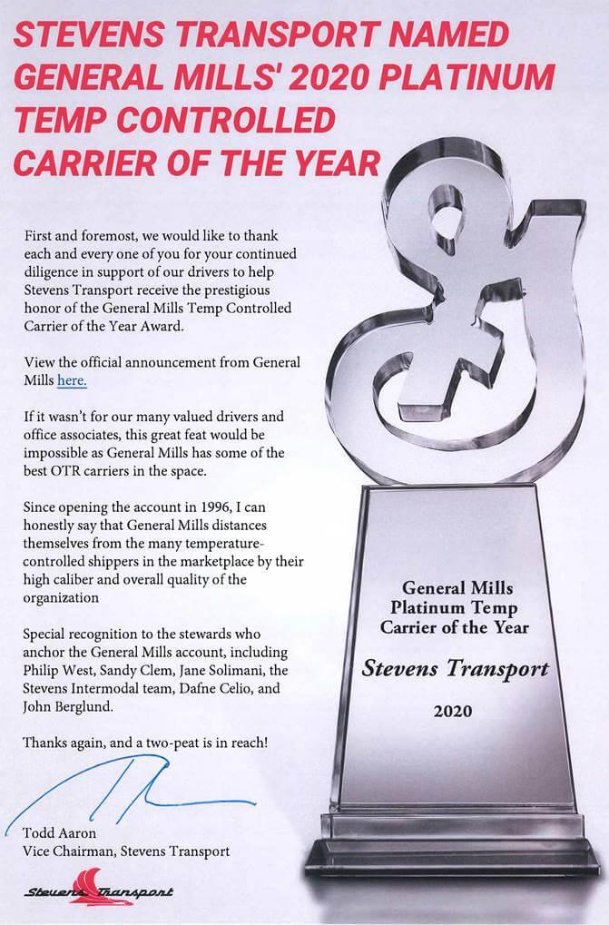 image of Todd Aaron Statement on Award