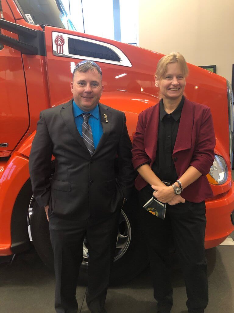image of Stevens Transport drivers Ray Miller & Gail Losee