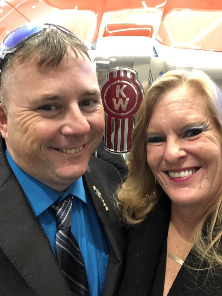 image of Transition Trucking winner Ray Miller & his wife Linda