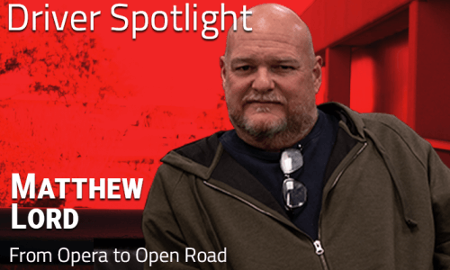 image of opera singer turned truck driver Matthew Lord
