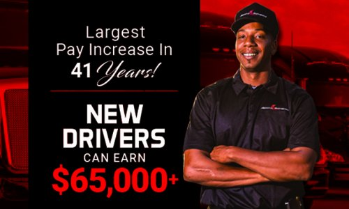 image of Stevens Transport Drive Pay Increase Banner